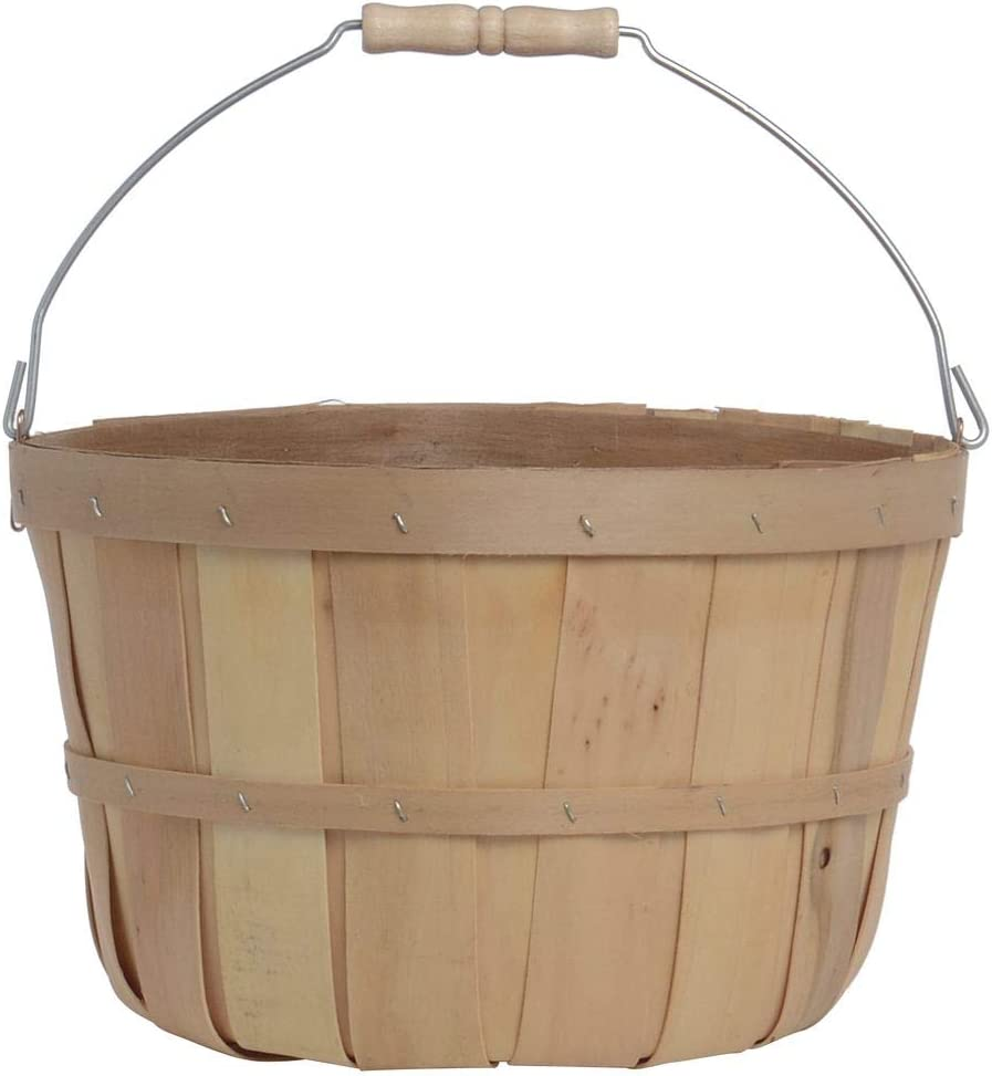 Peck Basket with Metal Bail Handle, Pack of 6