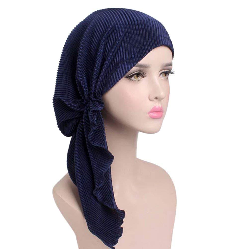 Turban Ladies Cap Musulmán Warme Sombreros Chemo Cáncer Pérdida De Cabello Verano Hueso Capo (Color : 1#, Size : One Size): Amazon.es: Ropa y accesorios