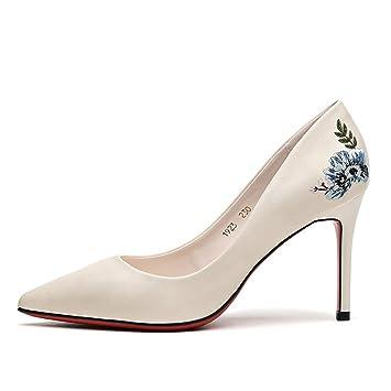 Verano De Fino Mujer Tacón Primavera 2018 Nuevo Otoño Zapatos xIHBnwqn