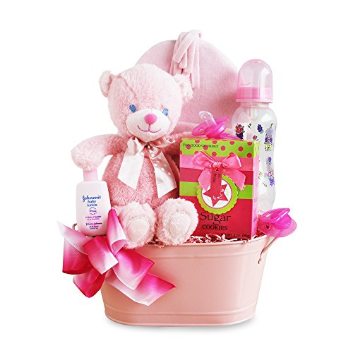 California Delicious Gift Basket, Cuddly Welcome for Baby Girl