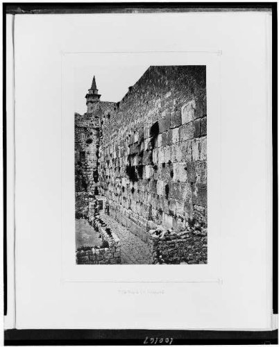 Photo: Wall,wailing,Jewish faith,religion,Western,spiritual life,Jerusalem,F Good,1881 by Infinite Photographs