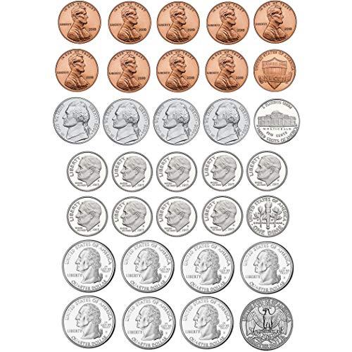 Ashley Productions U.S. Coins Math Die-Cut Magnet