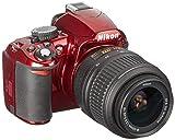 Nikon D3100 Digital SLR Camera with 18-55mm NIKKOR VR Lens - Red (International Model no Warranty)