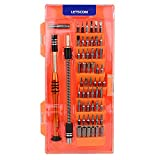 LETSCOM Multipurpose Precision Screwdriver Set, Interchangeable Magnetic Driver Kits 58 in 1 with 54 Bits, Electronics Repair Tool Kit FOR Cell Phone,Tablet,Game Console