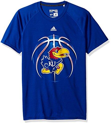 adidas NCAA Kansas Jayhawks Mens Light Ball Ultimate S Teelight Ball  Ultimate S Tee 1bd5ce757