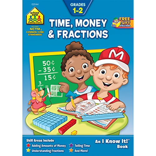 Time Money & Fractions, Grades 1-2, an I