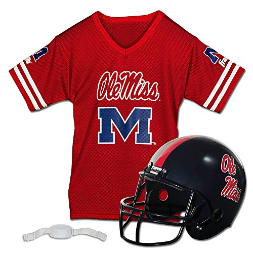 Franklin Sports NCAA Ole Miss Rebels Helmet and Jersey Set