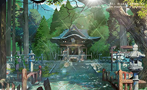 (Authorization) HD-Digital Illustration-Landscape Concept Art(Commercially Available: Drew and Made by Adobe Photoshop PSD File Layered Image File) (Modern China Style: Abandoned Temple)