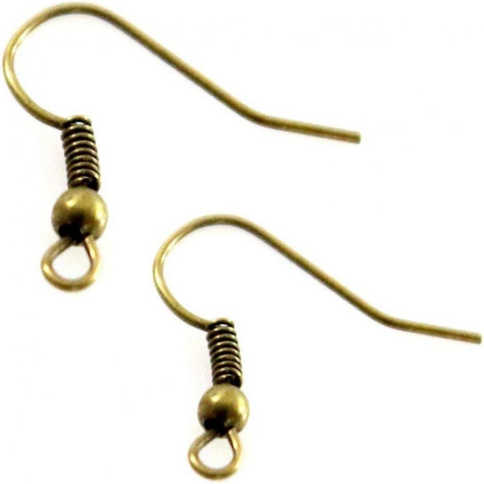 Dorato 50/pezzi cod accessori creazione Ganci Fibbia orecchini 18/mm SKU216108
