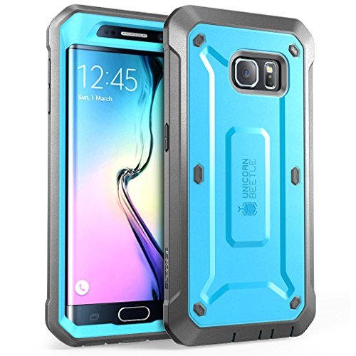 - SUPCASE [Unicorn Beetle PRO Series] Case for Galaxy S6 Edge (2015 Release), Full-Body Rugged Hybrid Protective Cover with Out Screen Protector (Blue)
