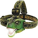 Kid Dinosaur T-Rex LED Headlamp Flashlight w/Sound