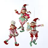 Ginger Bread Christmas Elves Figurines / Ornaments Set of 3