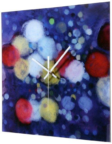 HangTime Designs Rainy Night Commute Wall Clock (Forest Square Clock Black)