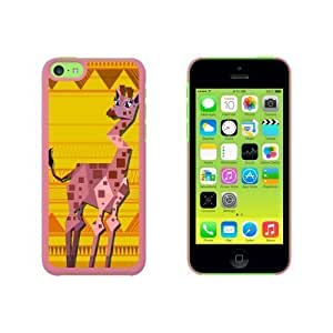 Geometric Giraffe Yellow Snap On Hard Protective For Iphone 6 Plus Phone Case Cover - Pink