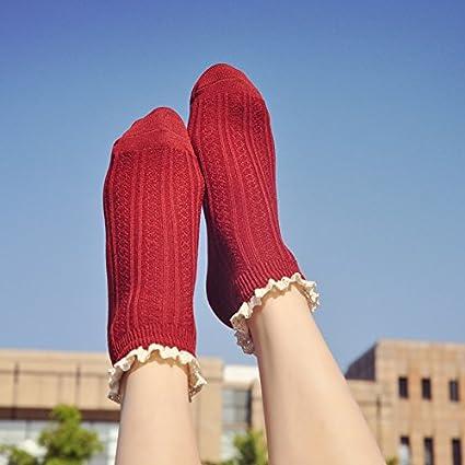 Calcetines calcetines niña precioso día de otoño de College Puntilla del Viento versión coreana del estudiante