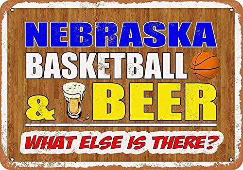 Joycenie Tin Sign New Aluminum Metal Sign Nebraska Basketball and Beer 8x12 Inch