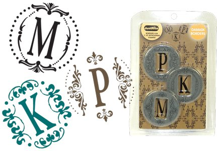 Just Rite Stampers - Borders for C-45 Monogram Stamper - DamaskBoders
