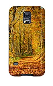 Galaxy S5 Case Cover Slim Fit Tpu Protector Shock Absorbent Case Forest