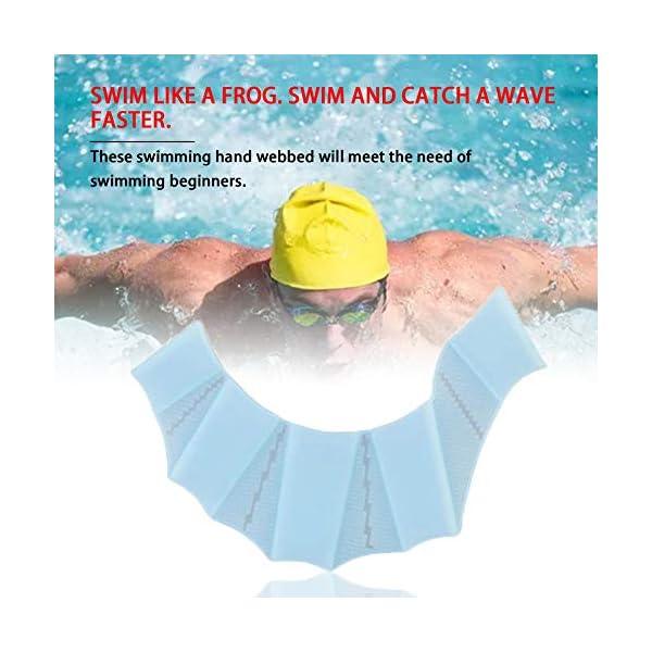 laonBonnie Pinne da Nuoto in Silicone Flippers Palm Finger Nuoto Guanti Paddel Migliorare Resistente Guanti da Nuoto… 4 spesavip