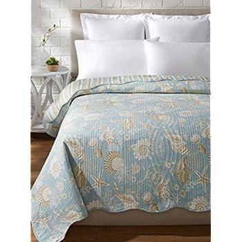 Amazon.com: C&F Home Luxury Oversized Natural Shells King Quilt ... : natural shells quilt - Adamdwight.com