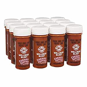 PULP STORY Cherry Poppins Cold Pressed Turmeric Juice Wellness Shots, 2 Ounce Single Servings, 16 count