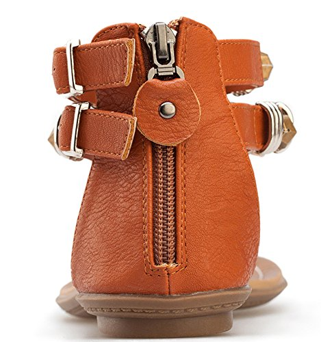 Summer Dress Back Sandals Brown Women Strap Oncefirst T Sling 75anxq