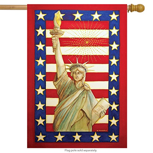 Briarwood Lane Lady Liberty Patriotic House Flag Fourth of July Statue of Liberty 28