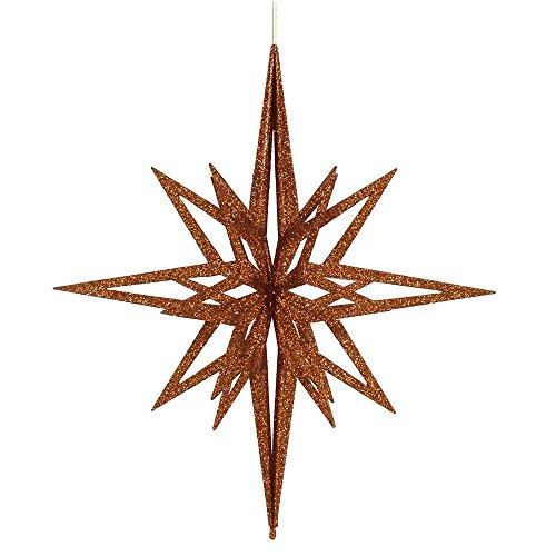 - Vickerman Glittered 3-D Star Shaped Christmas Ornament, 24