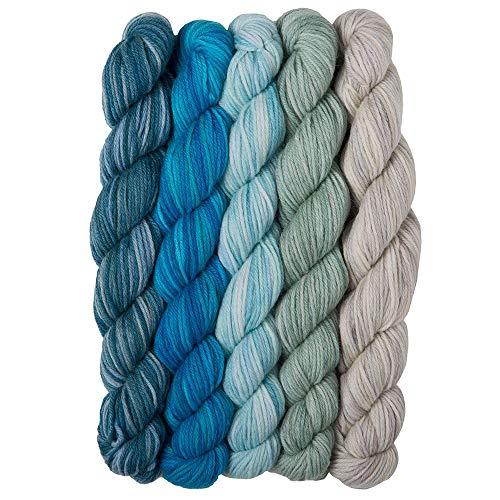 - Knit Picks Stroll Mini Packs Merino Sock Yarn (Aquarium)