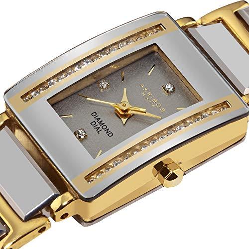 - Akribos XXIV Women's AK522YG Ceramic Rectangular Quartz Bracelet Watch