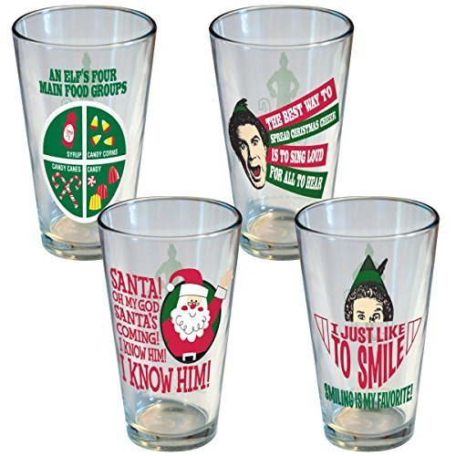 ICUP Elf The Movie Motto Pint (4 Pack), Clear by ICUP