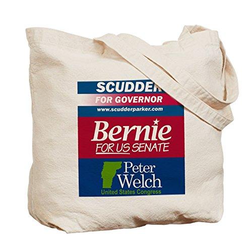 CafePress–Combo–Scudder, Bernie mascotas Tote Bag–Natural gamuza de bolsa de lona bolsa, bolsa de la compra