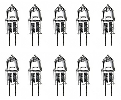 Ten Pack 6V 30W Halogen Light Bulb JC6V-30W/G4 Lamp for Nikon, Zeiss, Olympus, Leitz, Accu-Scope and Amscope Microscopes. -  HIKARI, 6V-G4-30W