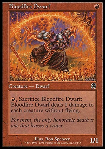 4x Bloodfire Dwarf MTG Apocalypse NM Magic Regular