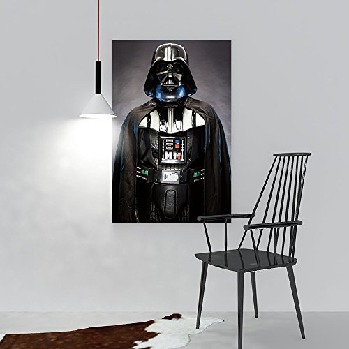 Wall Art Painting Frameless SAN Benedetto DEL TRONTO,Italy May,Portrait Darth Vader Costume Replica Posters Wall Decor Gift W20 x H40 -