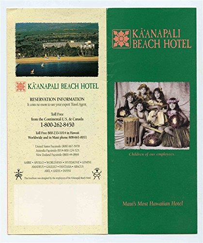 Kaanapali Beach Hotel Brochures and Postcard Maui Hawaii for sale  Delivered anywhere in USA