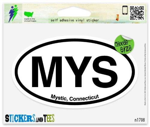 MYS Mystic Connecticut Oval Vinyl Car Bumper Window Sticker 5