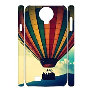 3D Samsung Galaxy S4 Cases, Cute Protective Big Ballon in the sky Cases For Samsung Galaxy S4 {White}