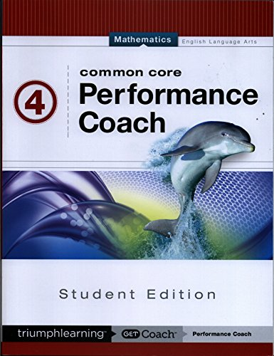 Common Core Performance Coach, Mathematics, Student Edition, Grade 4