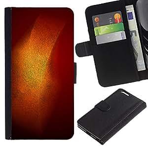 Billetera de Cuero Caso del tirón Titular de la tarjeta Carcasa Funda del zurriago para Apple Iphone 6 PLUS 5.5 / Business Style Gold Shiny Shine Orange Pastel