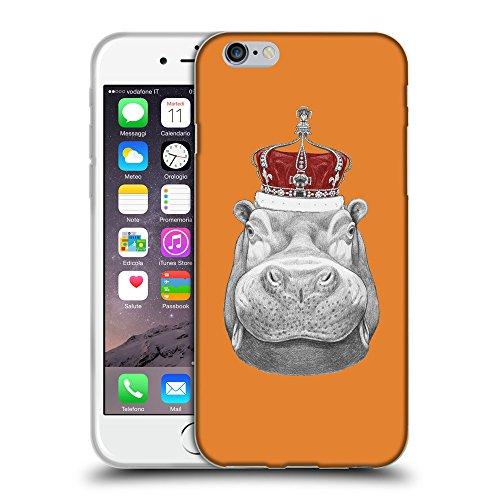 """GoGoMobile Coque de Protection TPU Silicone Case pour // Q05260623 hippopotame Cadmium Orange // Apple iPhone 6 PLUS 5.5"""""""