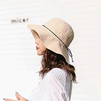 LOF-fei Mujer verano sombreros de sol sombrero de paja Pajarita al aire  libre plegables cefe7311394
