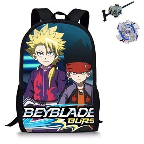 Manalo Bey Blade Burst Turbo Backpack with Bay blade Burst and Launcher INCLUDED AS A FREE GIFT,(Y)