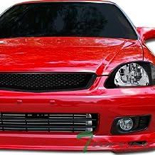 Topline Autopart JDM Black T-R Mesh Type Front Hood Bumper Grill Grille ABS 99-00 Honda Civic All Models Ek Ek9 Ej