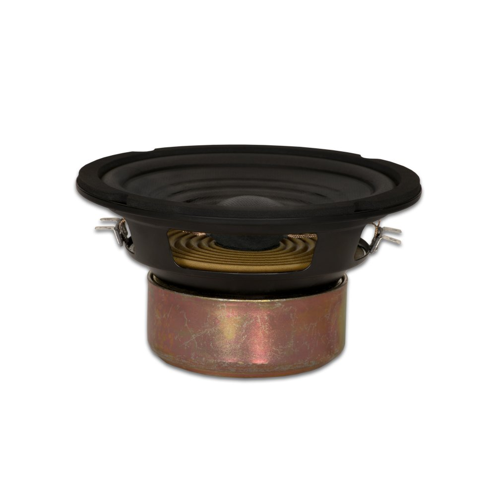 Goldwood Sound Dual Voice Coil 6.5'' Replacement Speaker Woofer Black (GW-406D)