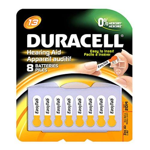 Duracell Easy Tab Hearing Aid DA13B8 Batteries - 8 CT