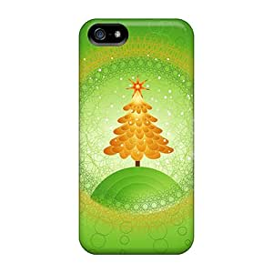 MattDFarmer Design High Quality Beautiful Christmas Tree Design Cover Case With Excellent Style For Iphone 5/5s