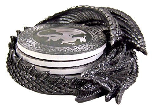 Dragon Coaster Holder With 4 Coaster Set]()