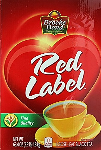 Brook Bond Red Label Fine Quality Loose Leaf Black Tea (63.4 oz/1800 - Red Tea Loose Label