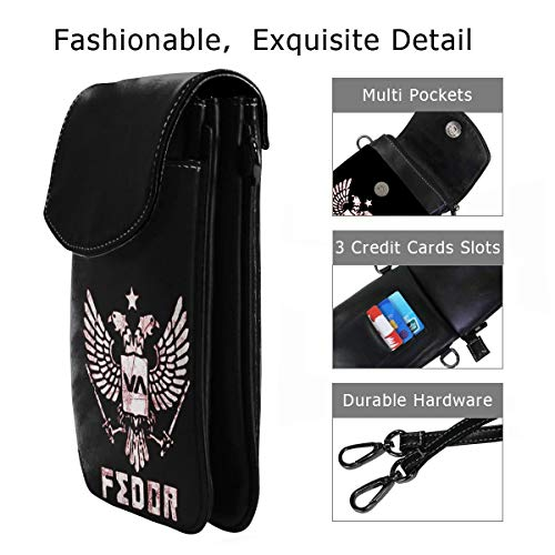 Fedor Emelianenko Fighter Women Small Crossbody Bag Smartphone Wallet -